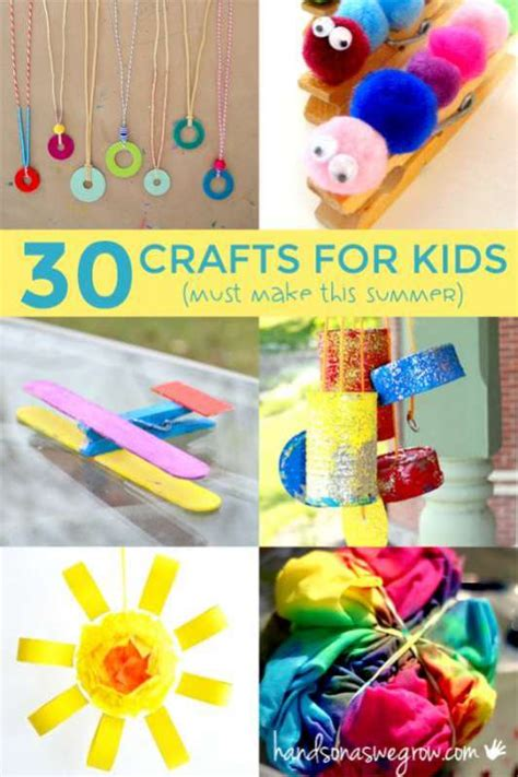 30 summer crafts for to make on as we grow