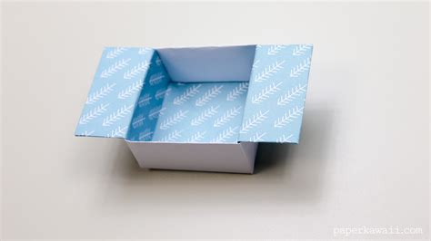 Paper Folded Box - origami open box paper kawaii