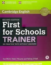 first for schools trainer 110744604x first for schools trainer six practice tests without answers cambridge university press