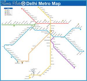 Delhi Metro Map by Delhi Metro Map Travel Map Vacations