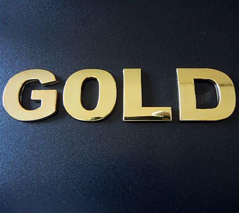 Klebebuchstaben Gold by Gold Buchstabe W 30mm Chrombuchstaben Firmenlogo Herstellung
