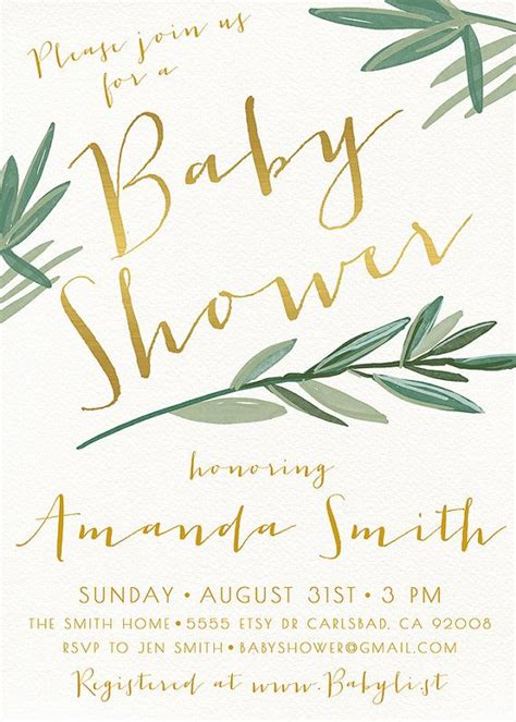 Simple Baby Shower Invites baby shower invitation templates baby shower invites etsy