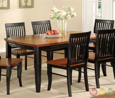 Casual Dining Sets Earlham I Mission Antique Black And Oak Casual Dining Set