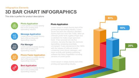 3d Bar Chart Infographics Powerpoint Keynote Template Ppt Chart