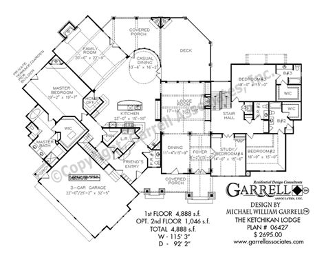garrell floor plans ketchikan lodge house plan house plans by garrell