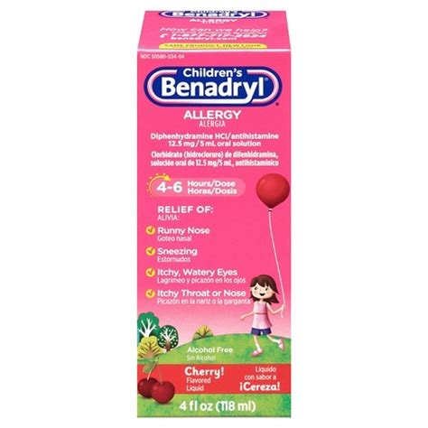 benadryl for allergies benadryl allergy relief cherry liquid for children target