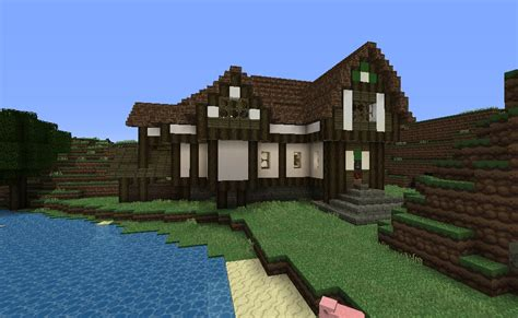 farm house minecraft big farm house with a little mine and little stable