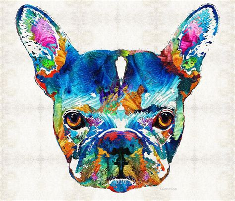 colorful dogs colorful bulldog by painting by