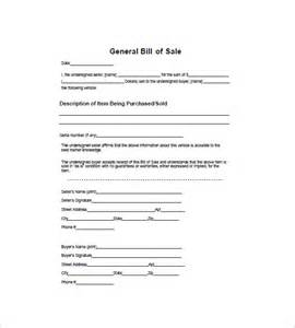 general bill of sale template general bill of sale 10 free word excel pdf format