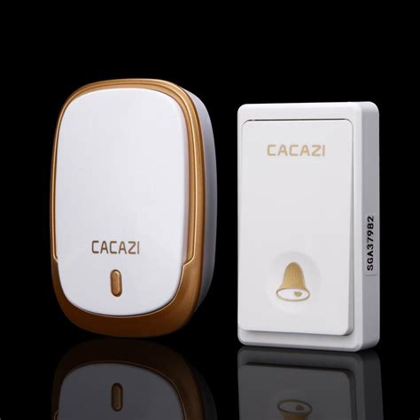 Cacazi A8 Bel Pintu Wireless Remote Doorbell Led 48 Tune 1pcs Receiver cacazi no battery required wireless doorbell 200m remote waterproof door bell eu us au ac