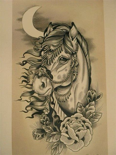 horse head tattoo magic by marija ripley my canvas my skin