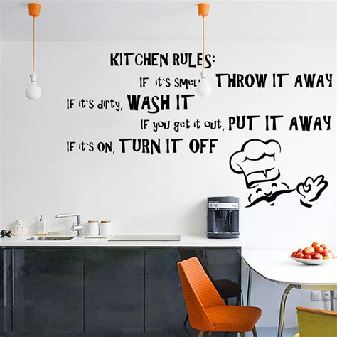 home decor sticker vinyl wall decal quote kitchen dining room text
