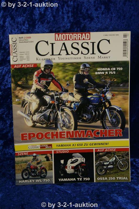 Motorrad Ebay Auktion by Motorrad Classic 2 09 Honda Cb 750 Bmw R 75 5 Ossa Ebay