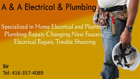 Electrical And Plumbing Services by For All Type Of Plumbing And Electrical Services We