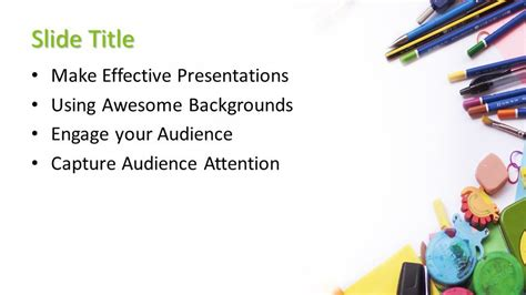 Free Painting Powerpoint Template Free Powerpoint Templates Painting Template Free