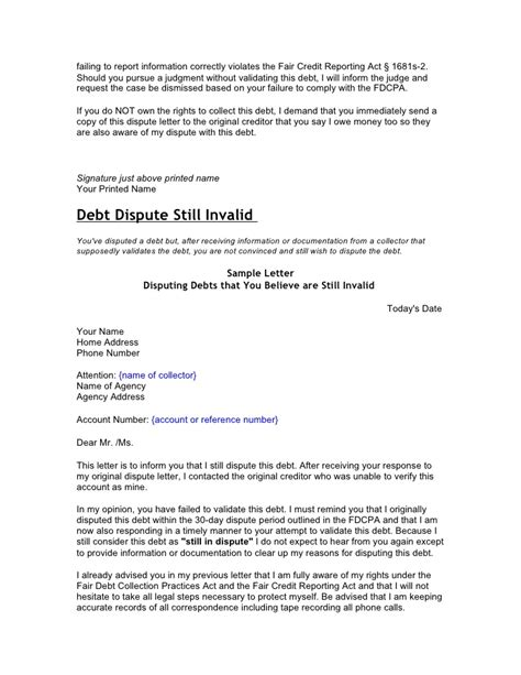 Dispute Letter Sle For Credit Report Sle Letter To Remove Judgement From Credit Report 28