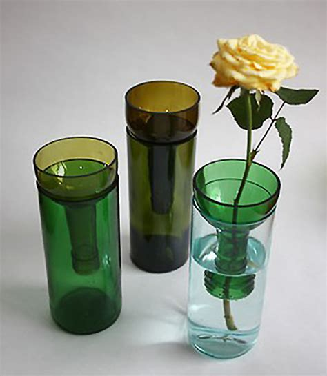 Wine Vase by A Simple Recycled Wine Bottle Vase With