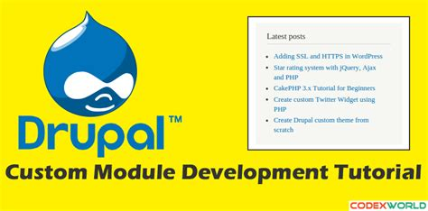 codeigniter tutorial for beginners codexworld drupal custom module development tutorial codexworld