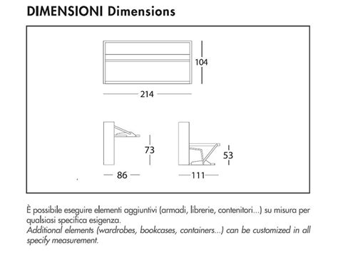 misure letto a letto a scomparsa dimensioni logisting varie forme