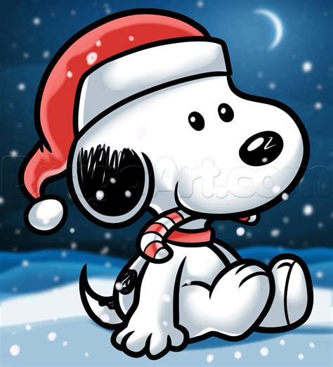 draw christmas snoopy step step comic book