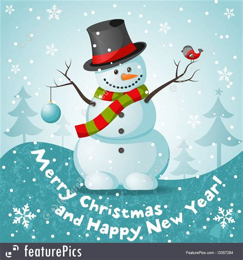 holidays merry christmas snowman stock illustration   featurepics