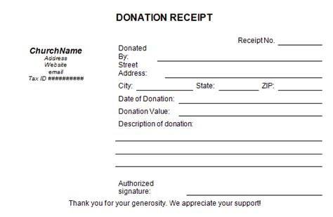 free donation receipt template 50 free receipt templates sales donation taxi