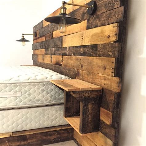 wood diy headboard rustic headboard is carefully crafted from specially
