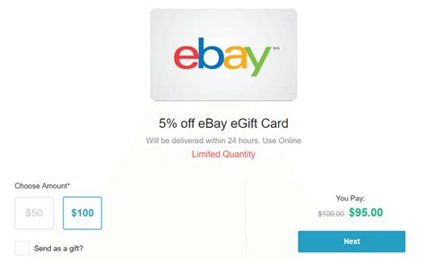 Where Can I Purchase Ebay Gift Cards - expired 100 ebay giftcard for 95 via retailmenot doctor of credit