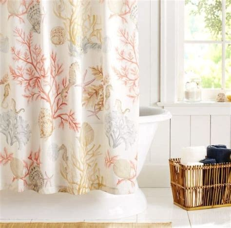 beachy curtains beach decor shower curtains to create an instant spa feeling