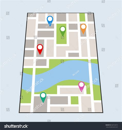 Rural Delivery Address Finder Map Locations Map Location Plan Route Image Vectorielle