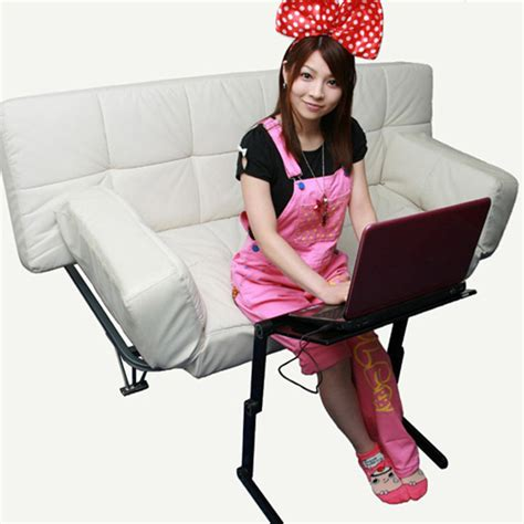 upside down gorone desk lets you use laptop while laying