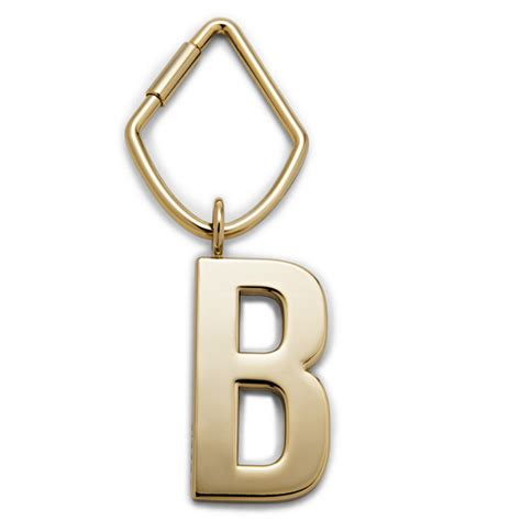 Fossil Initial Bagcharm letter b bag charm fossil