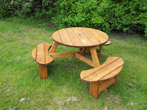 circular picnic benches dan s project download round picnic table plans