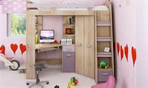 lit en hauteur combin avec bureau armoire et rangement intgr