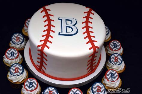 Baseball Baby Shower Cake Ideas by Baseball Baby Shower Cake With Cupcakes By K Noelle Cakes