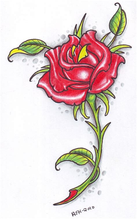 rose tattoo art design by twistedmentality models picture