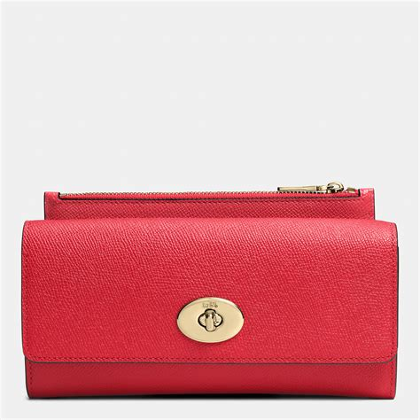 Coach Slim Envelope Wallet coach slim envelope wallet with pop up pouch in embossed