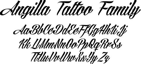 tattoo fonts loose cursive angilla ia true type font and is favorite among