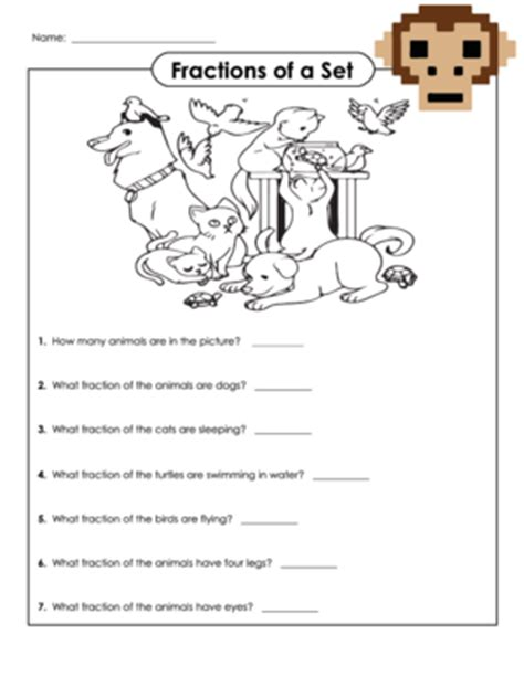 Fractions Of A Set Worksheets by 28 Worksheets For Fractions Of A Set Fractions Of A