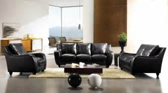 italian living room sets black full italian leather 3pc modern living room set