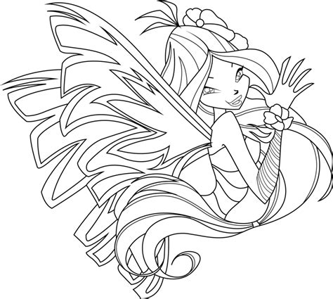 Flora Sirenix Coloring Page By Icantunloveyou On Deviantart Winx Club Coloring Pages Flora