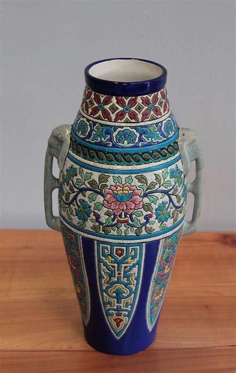 vaso lungo vaso di smalto lungo antiquites lecomte