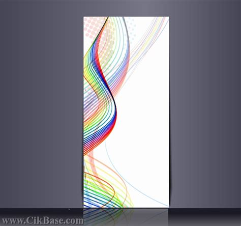 vertical banner background vector templates banner
