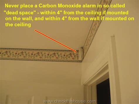where to install a carbon monoxide detector alarm