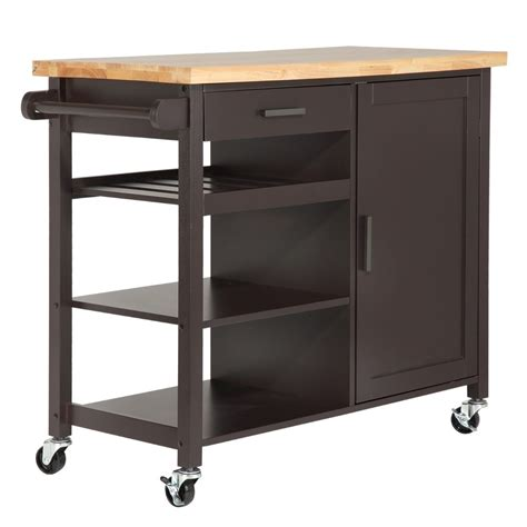 Kitchen Storage Islands Homegear Deluxe Kitchen Storage Cart Island W Rubberwood Cutting Block On Wheel Ebay