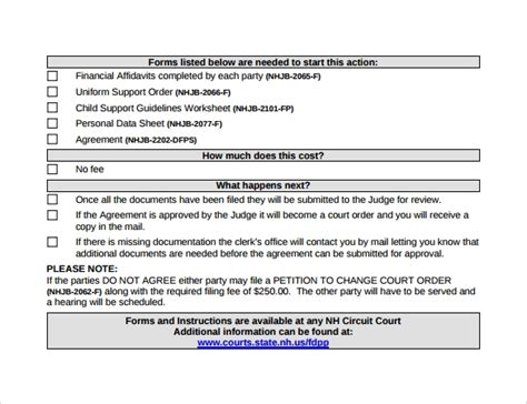 10 Sle Child Support Agreement Templates Pdf Sle Templates Child Support Agreement Template