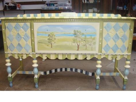 Chalk Paint Ideas Kitchen Sideboards Stunning Hand Painted Buffet Furniture Chalk