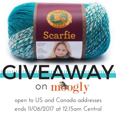 Giveaway Disclaimer - lion brand scarfie yarn giveaway win yarn on moogly