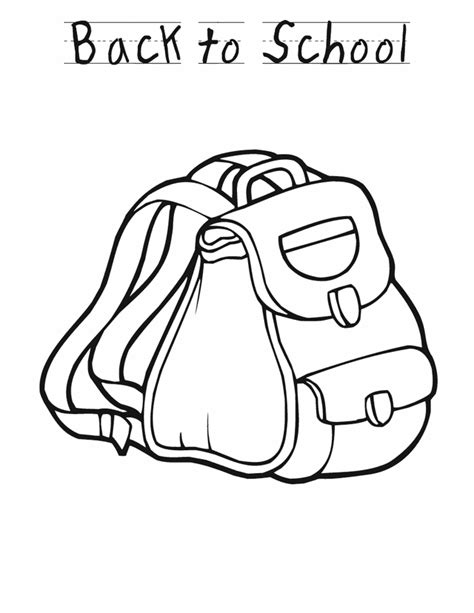 back to school backpack free printable coloring pages