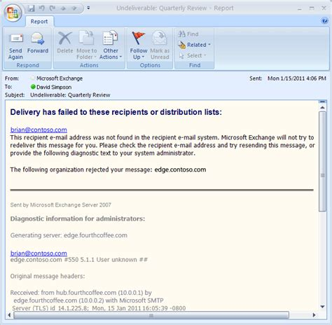 yahoo email undeliverable how to return email to sender
